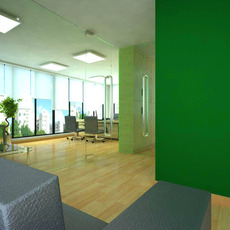Office space 003 3D Model