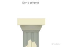 Greek Doric Short Column 3D Model