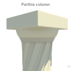 Parthia column 3D Model