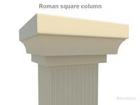 Roman Square column 3D Model