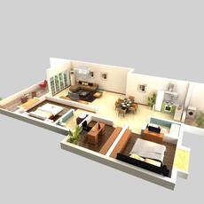LivingRoom 057 3D Model