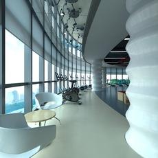 Gym space 002 3D Model