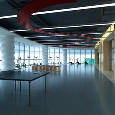 Gym space 009 3D Model