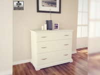IKEA BIRKELAND Chest of 3 drawers 3D Model