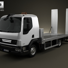 DAF LF Car Transporter 2011 3D Model