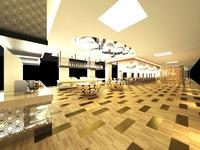 Restaurant Space 055 3D Model
