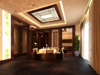Restaurant Space 065 3D Model