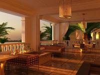 Restaurant Space 070 3D Model