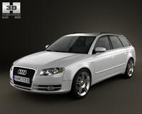 Audi A4 Avant 2005 3D Model