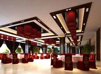 Restaurant Space 076 3D Model