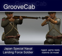 Japanese WWII SNLF Soldier 3D Model