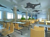 Restaurant Space 078 3D Model