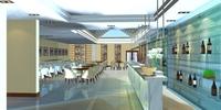 Restaurant 079 3D Model