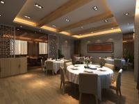 Restaurant Space 081 3D Model