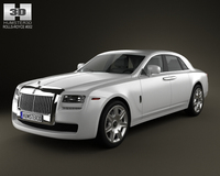 Rolls-Royce Ghost 2011 3D Model