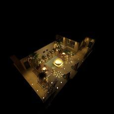 Corridor spaces 012 3D Model