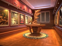 Corridor spaces 019 3D Model