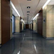 Corridor spaces 020 3D Model