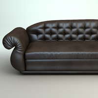 Leather Sofa 2 3D Model