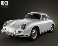 Porsche 356A coupe 1959 3D Model