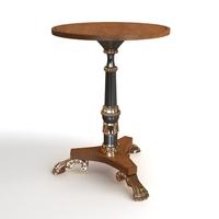 Baroque Antique Table 3D Model