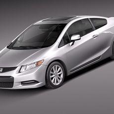 Honda Civic 2012 usa coupe 3D Model