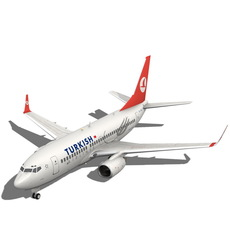 Turkish Airlines Boeing 737-700w 3D Model