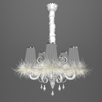 Carlesso Blanche Chandelier 3D Model