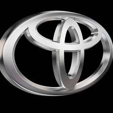 Toyota Car logo 3D Model