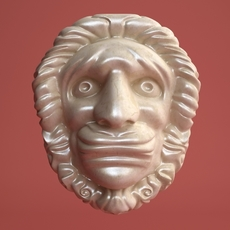 Head Bas Relief Sculpture 3D Model