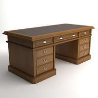 Photorealistic Wooden Desk 3D Model