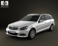 Mercedes-Benz C-class Estate 2012 3D Model