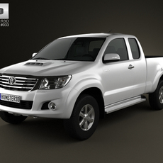 Toyota Hilux ExtraCab 2012 3D Model