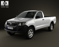 Toyota Hilux RegularCab 2012 3D Model