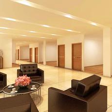 Corridor Spaces 001 3D Model