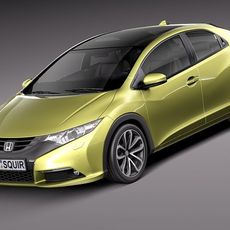 Honda Civic 2012 European 3D Model