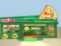 Pizza store 3D Model