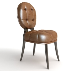 Leather Side Chair 2 3D Model