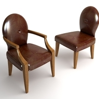 2 Leather Chairs 3D Model