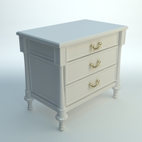 White Nightstand 3D Model