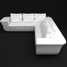 White Corner Sofa 3D Model