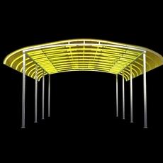 Parking Shelter 2 3D Model