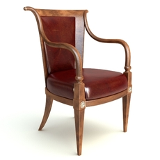 Photorealistic Antique Armchair 2 3D Model