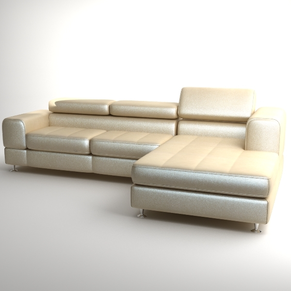 Corner Sofa With Chaise 3D Model