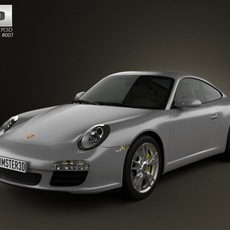 Porsche 911 Carrera Coupe 2011 3D Model