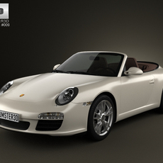 Porsche 911 Carrera Cabriolet 2011 3D Model