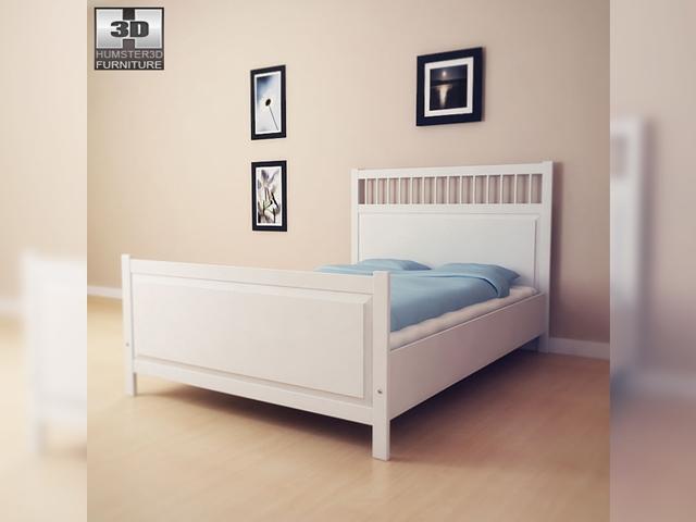 ikea hemnes bed 2 3d model - Ikea Hemnes Bed Frame
