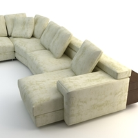 Corner Sofa Photorealistic 3D Model