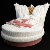 Ornate Round Bed Alta Moda Chic 101 3D Model