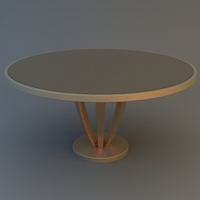 Round Coffee Table 3D Model
